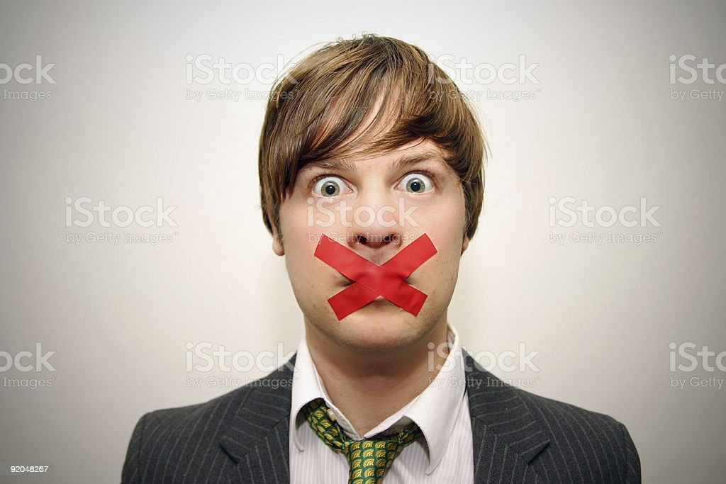 silenced stock photo