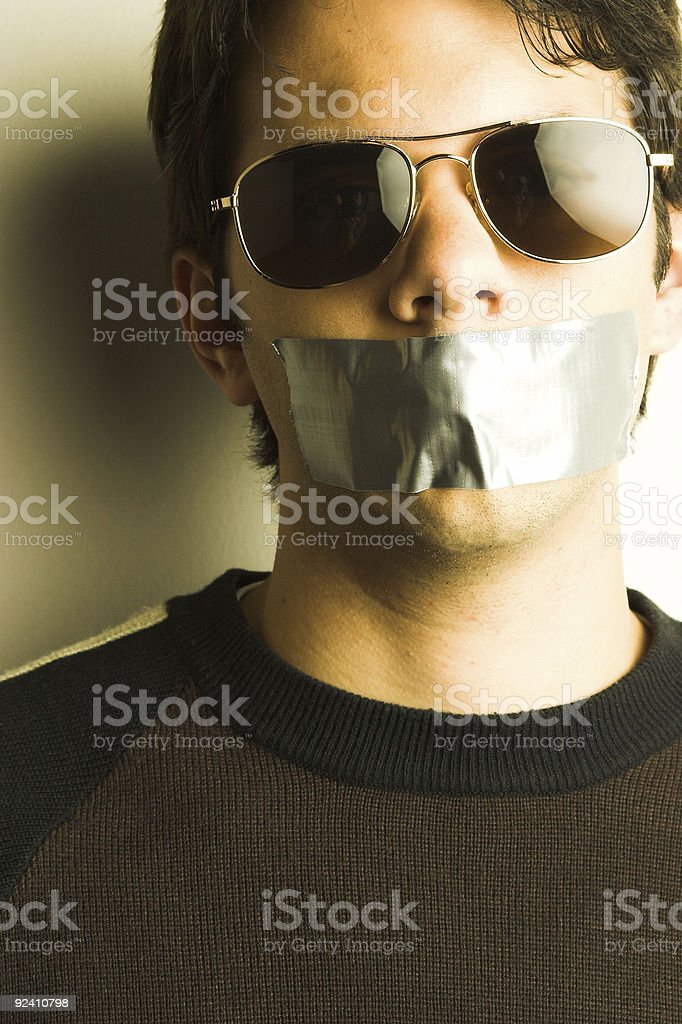 Silenced royalty-free stock photo