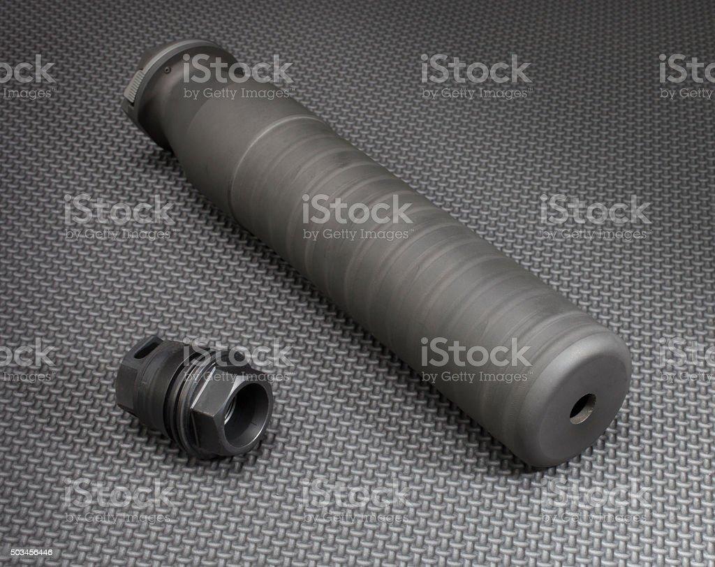 Silencer parts stock photo
