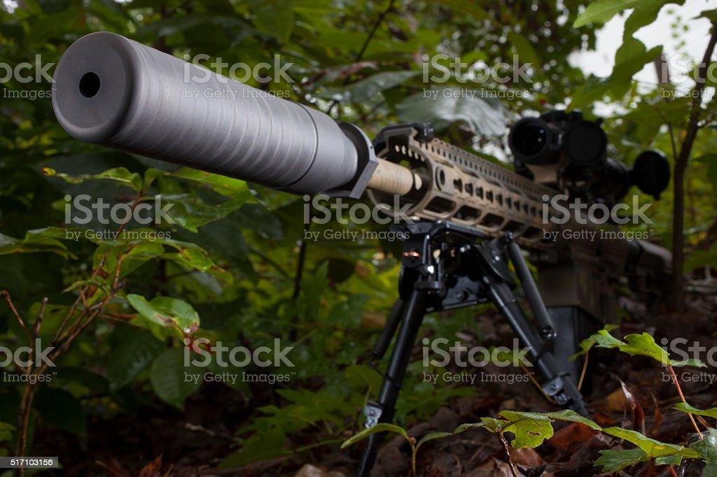 Silencer stock photo