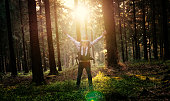 istock Silent Forest in spring with beautiful bright sun rays 682231220