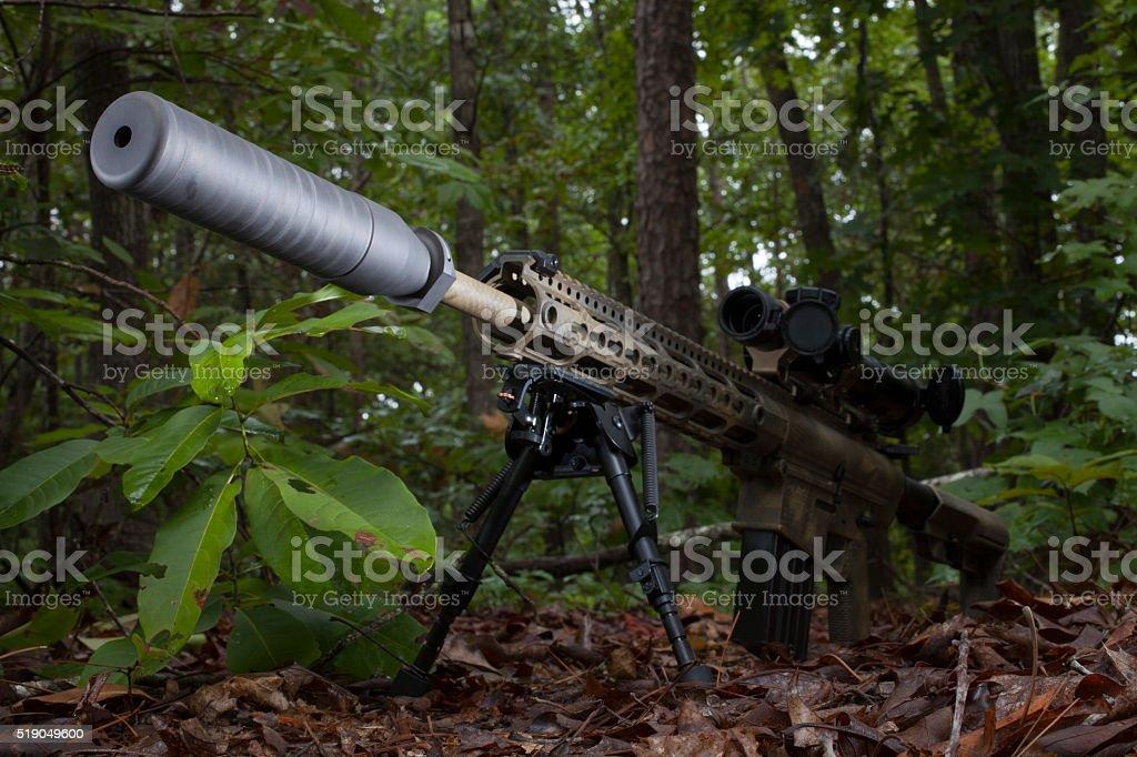 Silent gun stock photo