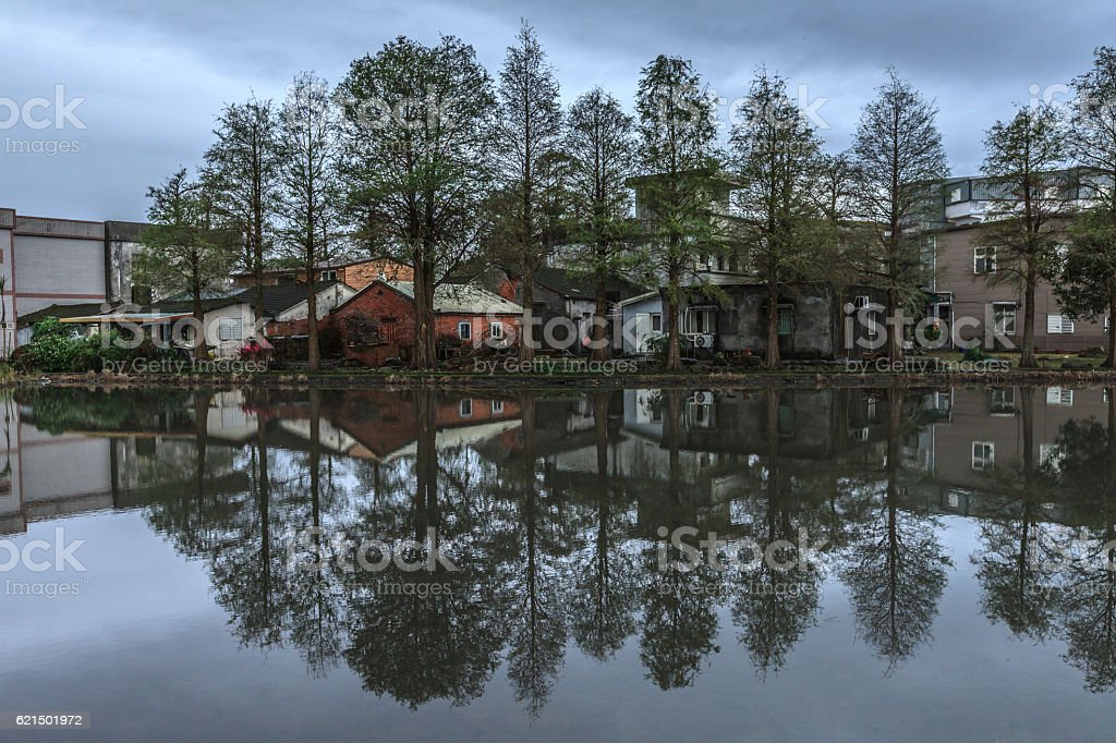 silent home in country side foto stock royalty-free