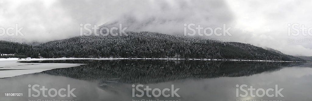 Silent lake stock photo