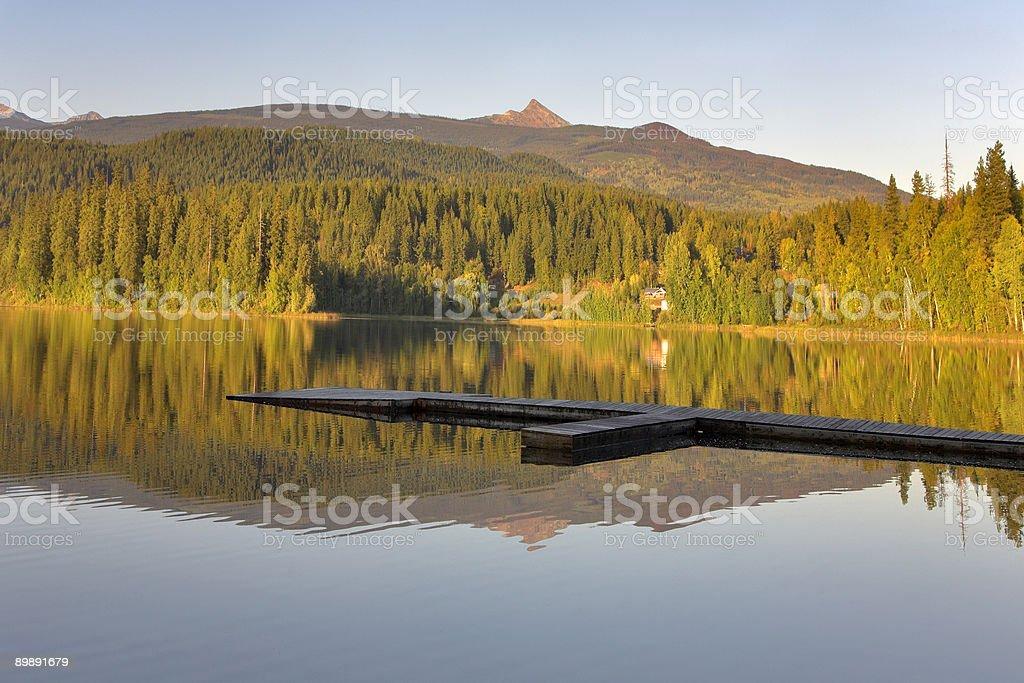 Lago de silencio. foto de stock libre de derechos