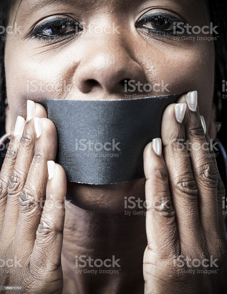 Silent Minority stock photo
