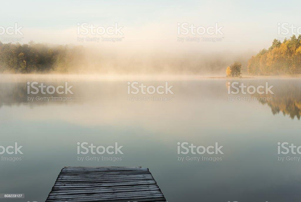 Silent morning stock photo