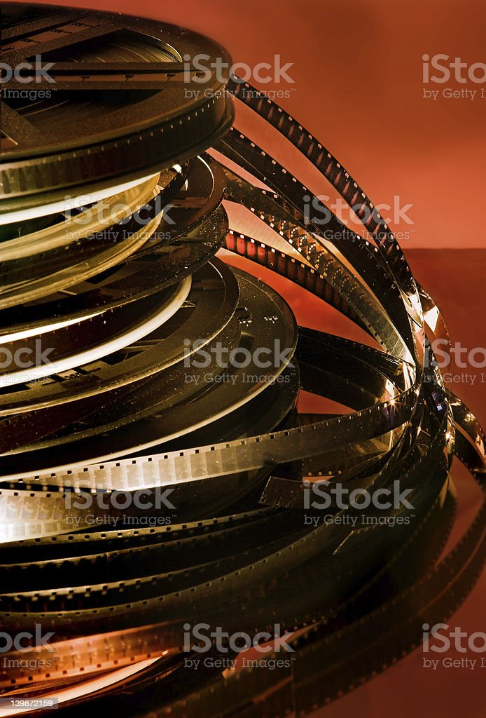 Silent movies stock photo