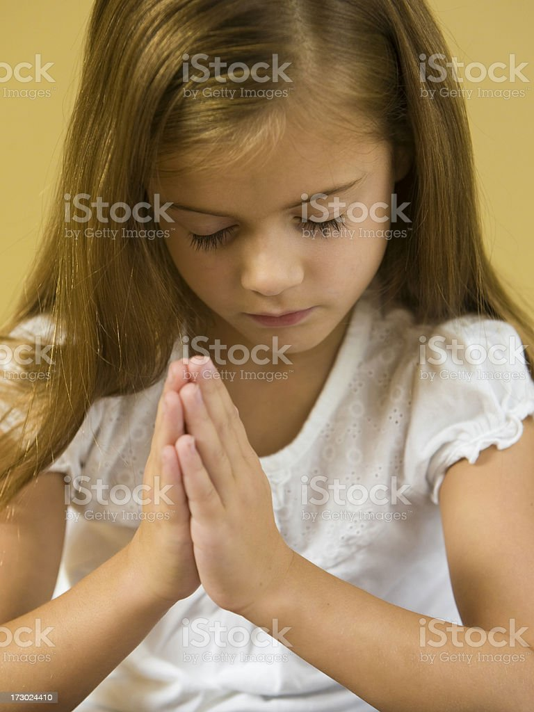 Silent Prayer royalty-free stock photo