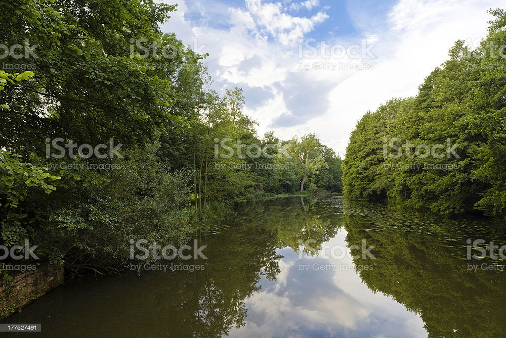 Silent River stock photo