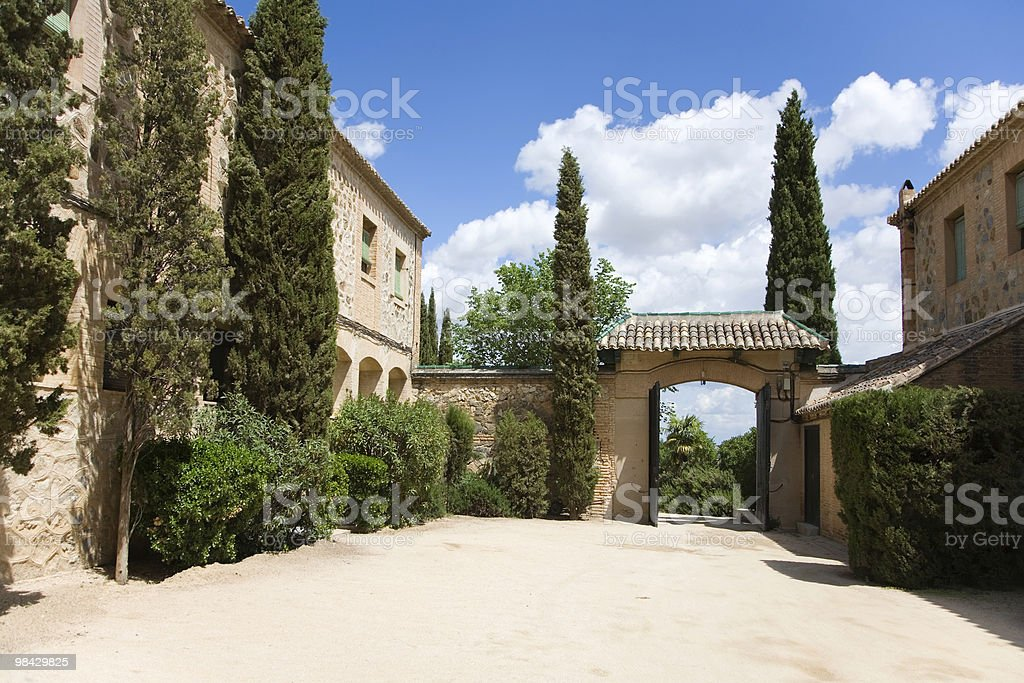 Silent rural hotel in Spain royalty-free stock photo