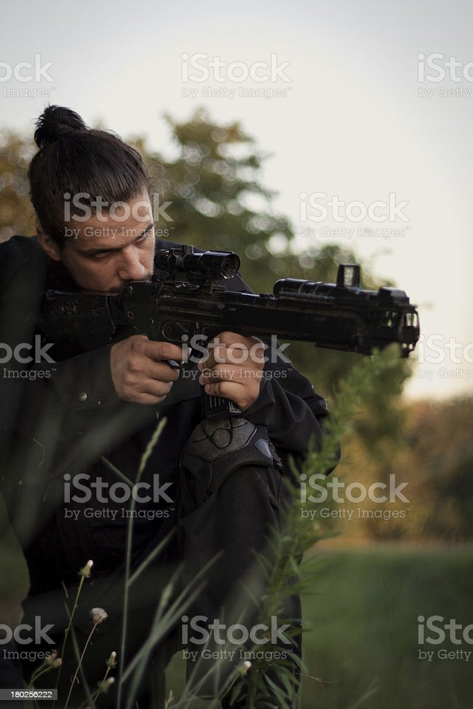 Silent Shooter royalty-free stock photo