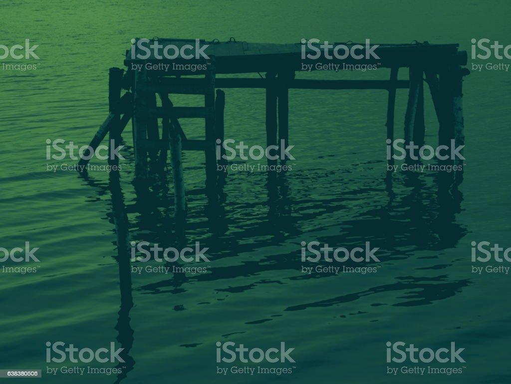 Silent Water Color Minimal Landscape Wallpaper Foto De Stock
