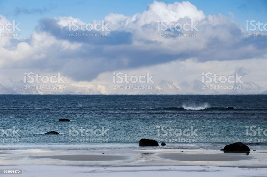Silent Wave royalty-free stock photo