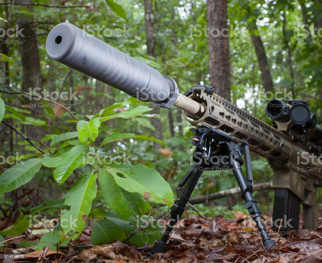 Silent weapon stock photo