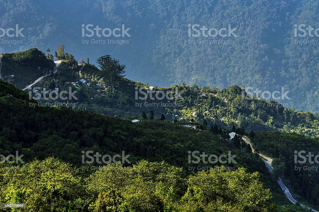 Silerygaon valley, Sikkim royalty-free stock photo