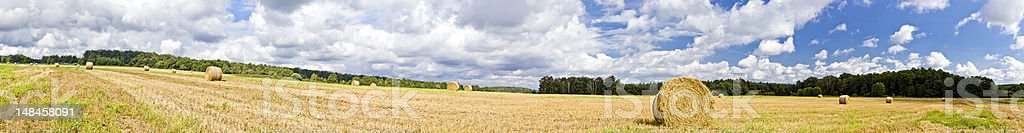 Silesian Landscape Panorama stock photo