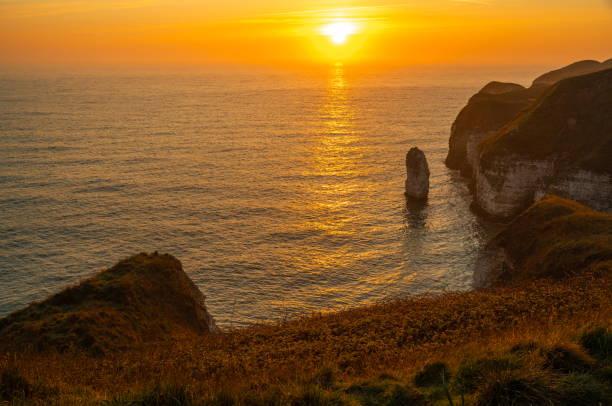 Silex Bay, Flamborough Head stock photo