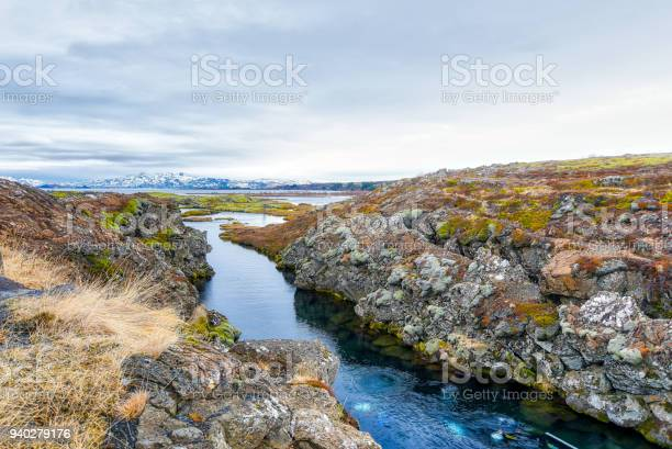 Photo of Silfra fissure in Thingvellir national park in Iceland