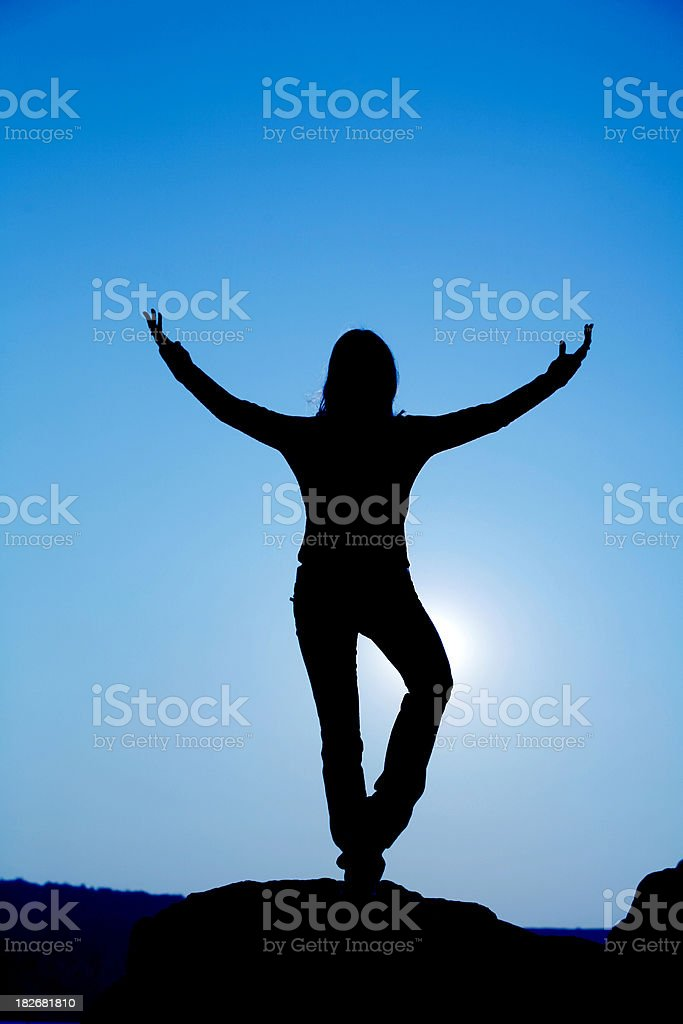 Silhouette 1 royalty-free stock photo