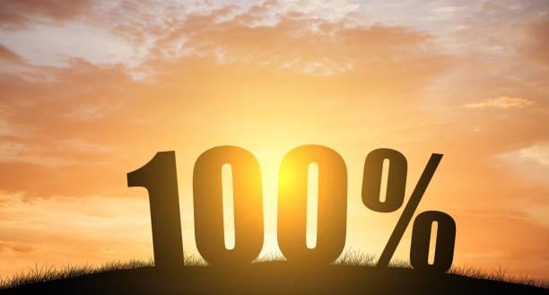 silhouette 100 % prozent mit der natur - nummer 100 stock-fotos und bilder