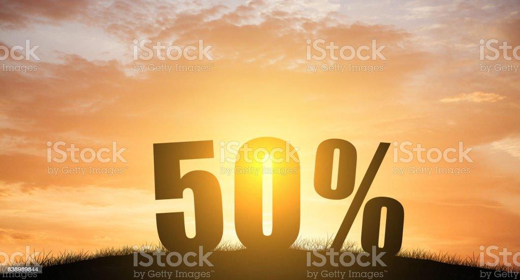 silhueta 50% por cento com a natureza - foto de acervo