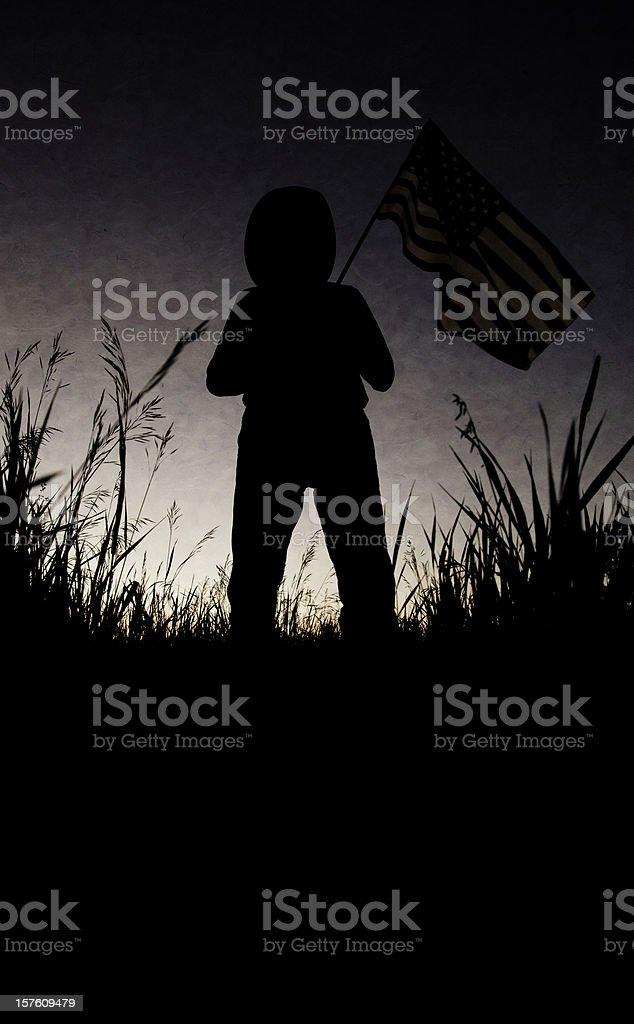 Silhouette American Cowboy stock photo