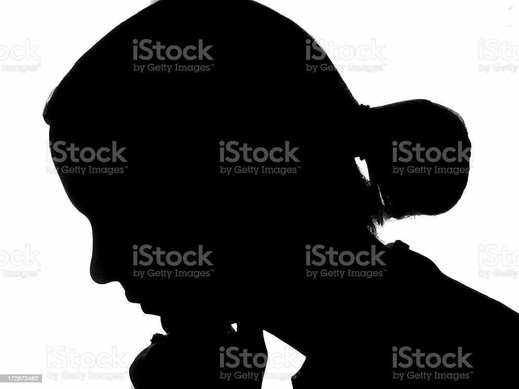 Face silhouette royalty-free stock photo