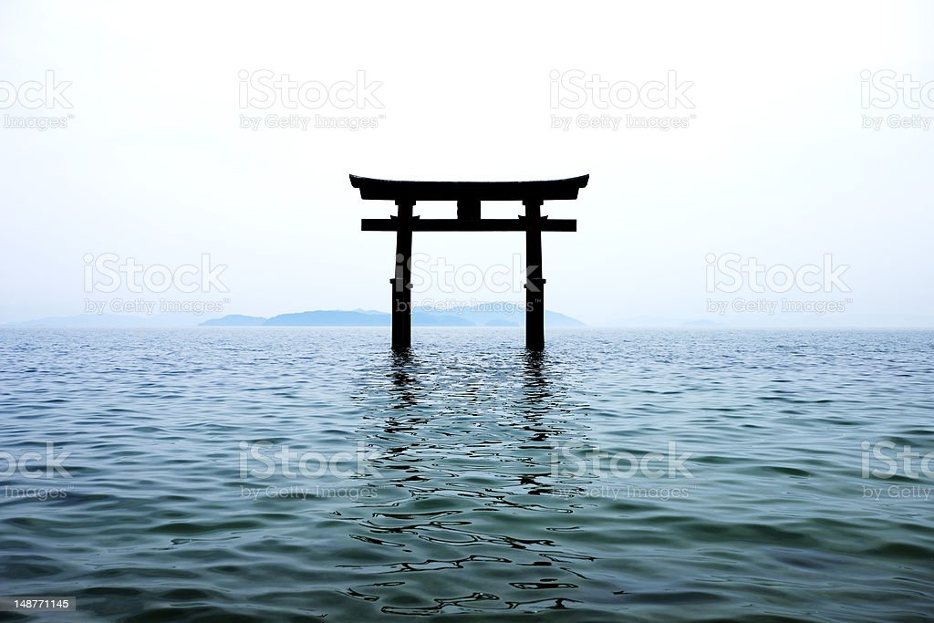 Silhouette gate stock photo