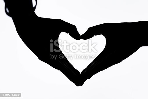 Silhouette Gesture Heart-shaped