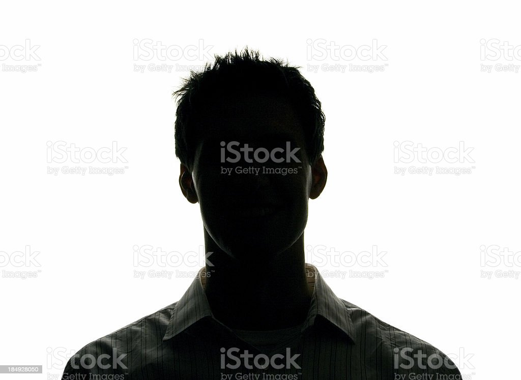 silhouette head stock photo