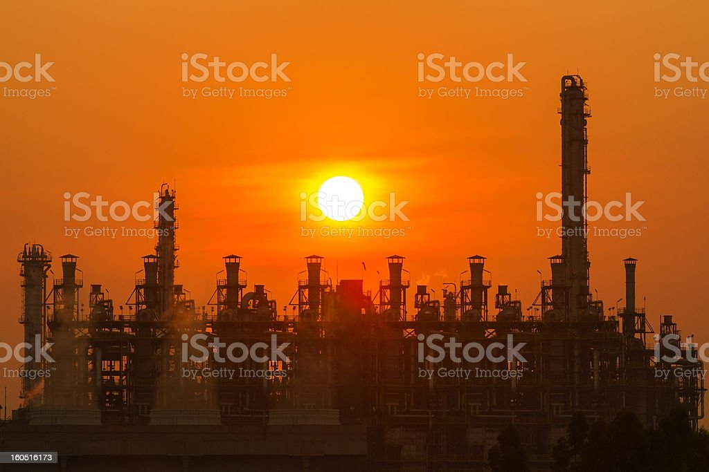 Silhouette illustration of a factory stock photo
