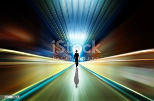 istock silhouette in a subway tunnel. Light at End of Tunnel 186954248