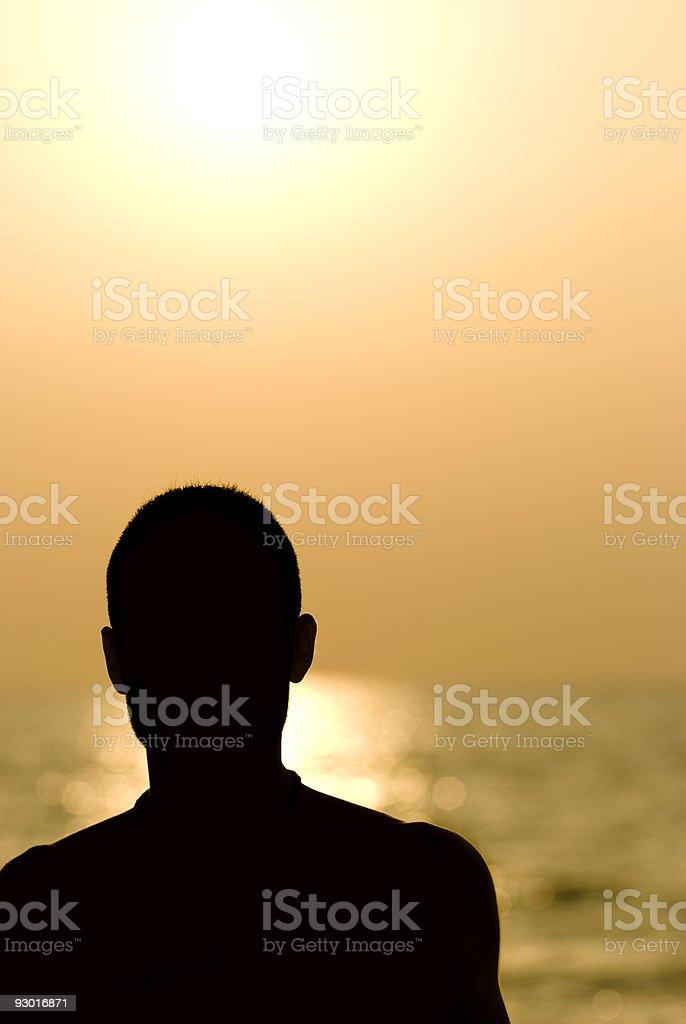 silhouette man royalty-free stock photo