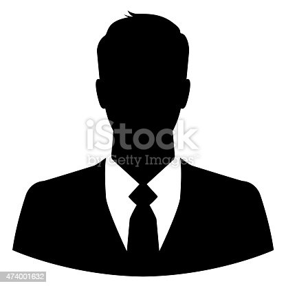 istock Silhouette of a businessman for use as a profile picture 474001632