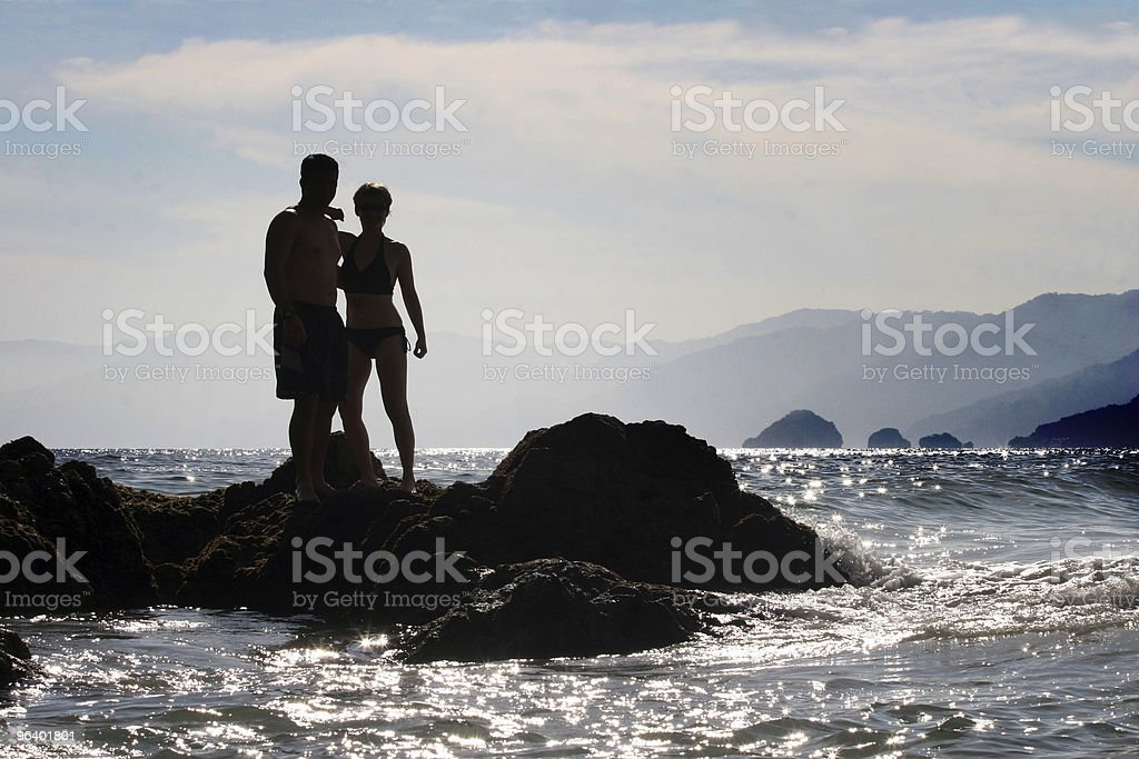 Silhouette of a couple - Royalty-free Adult Stock Photo