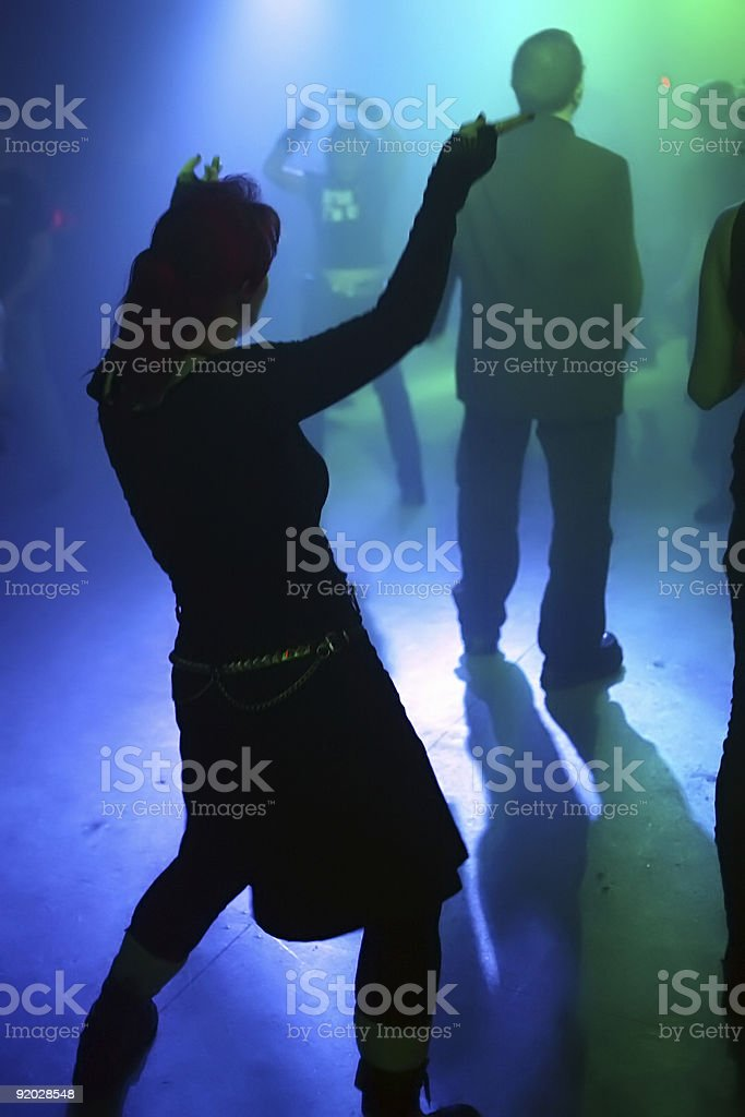 silhouette of a dancing woman royalty-free stock photo