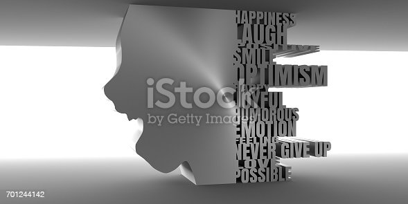 499664303istockphoto Silhouette of a female head. Face side view. 701244142