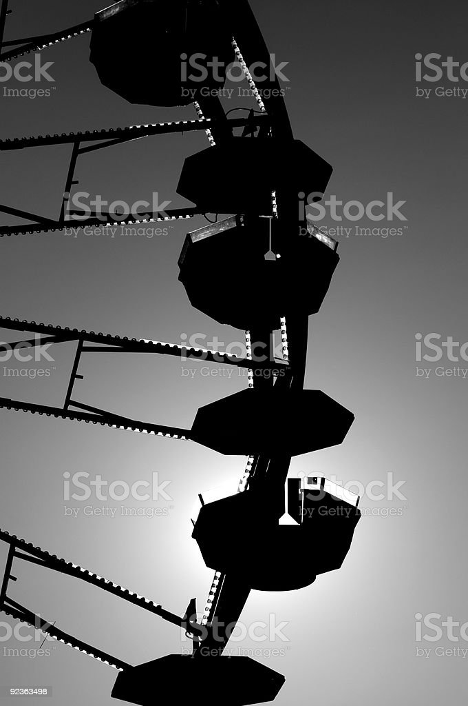 Silhouette of a ferris wheel royalty-free stock photo