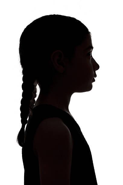 silhouette of a girl - arkadan aydınlatmalı stok fotoğraflar ve resimler