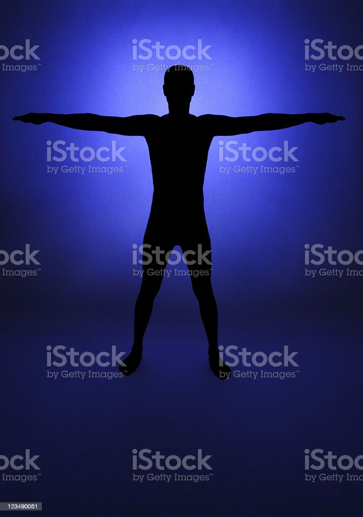 Silhouette of a Man royalty-free stock photo