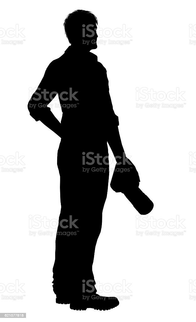 Silhouette of a photographer with dslr camera isolated on white photo libre de droits