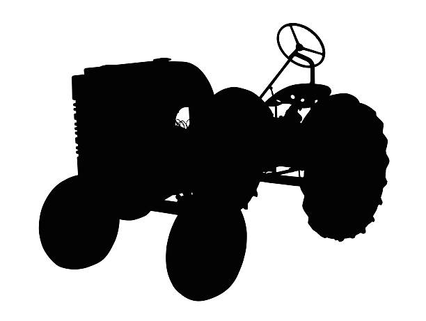 Antique Tractor Silhouette : Royalty free vintage tractor silhouette pictures images