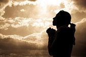 A women praying.Similar Images: