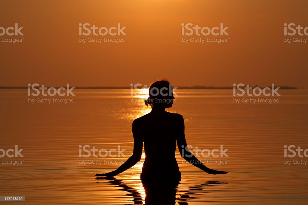 silhouette of a woman royalty-free stock photo