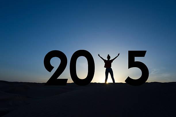 2015, silhouette d'une femme debout dans le lever de soleil - 2015 photos et images de collection