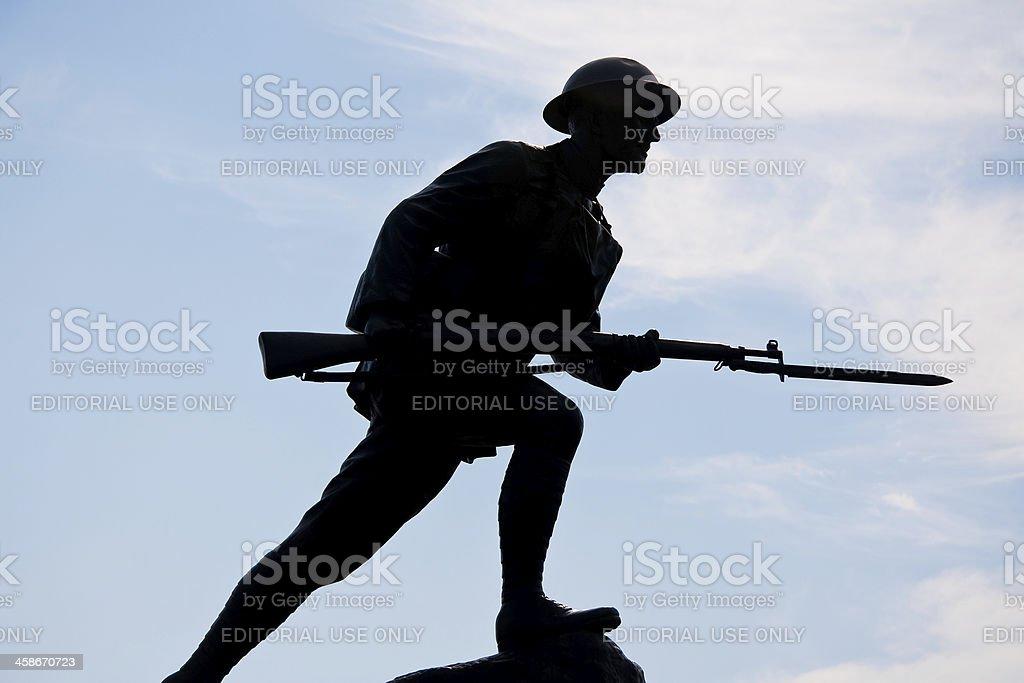Silhouette d'un soldat guerre Doughboy - Photo