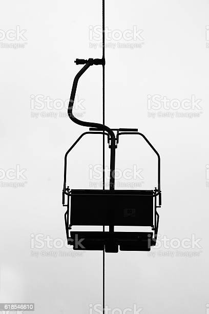 Photo of Silhouette of air-cable car