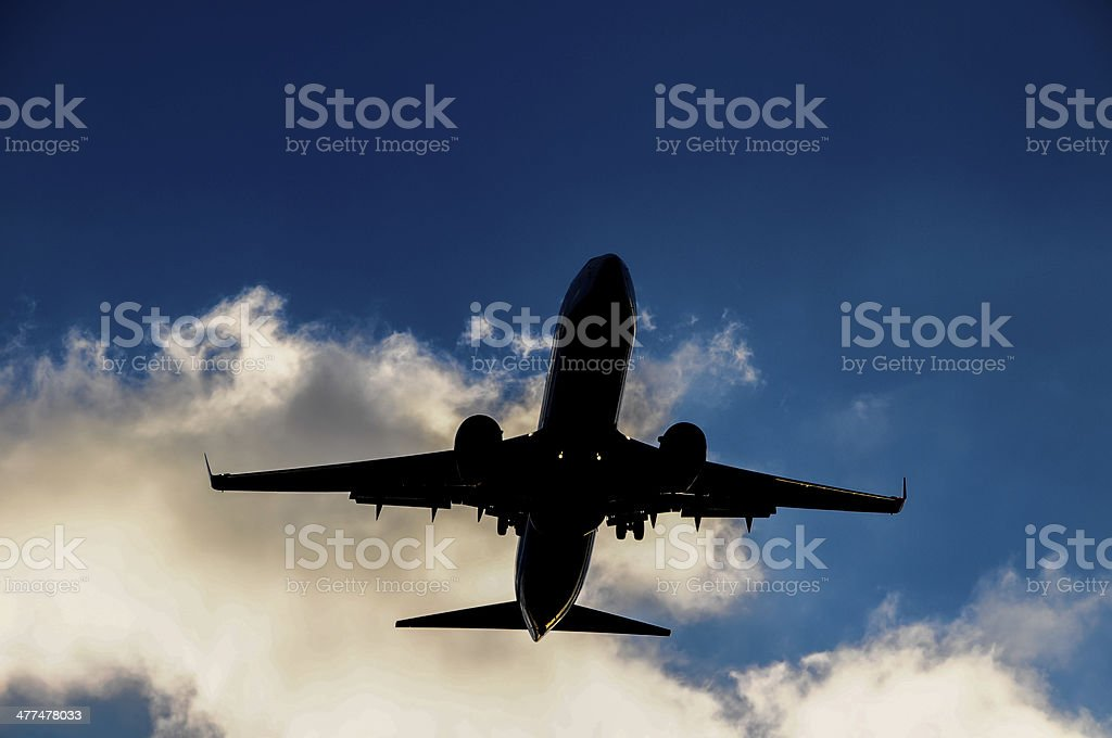 Silhouette of an Airplane royalty-free stock photo