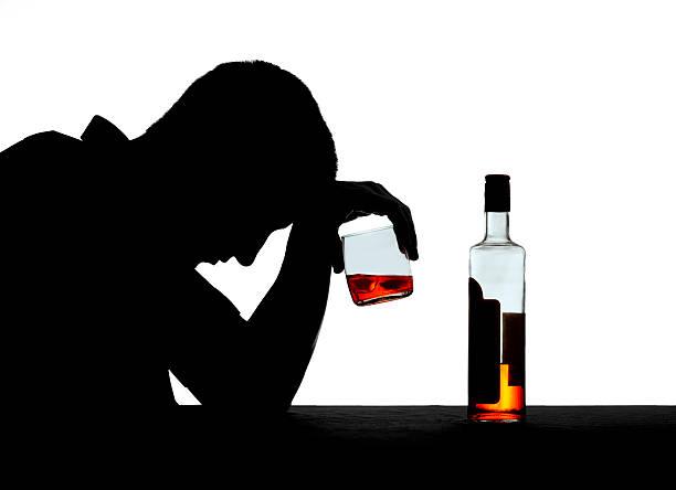 Silhouette d'un alcool - Photo